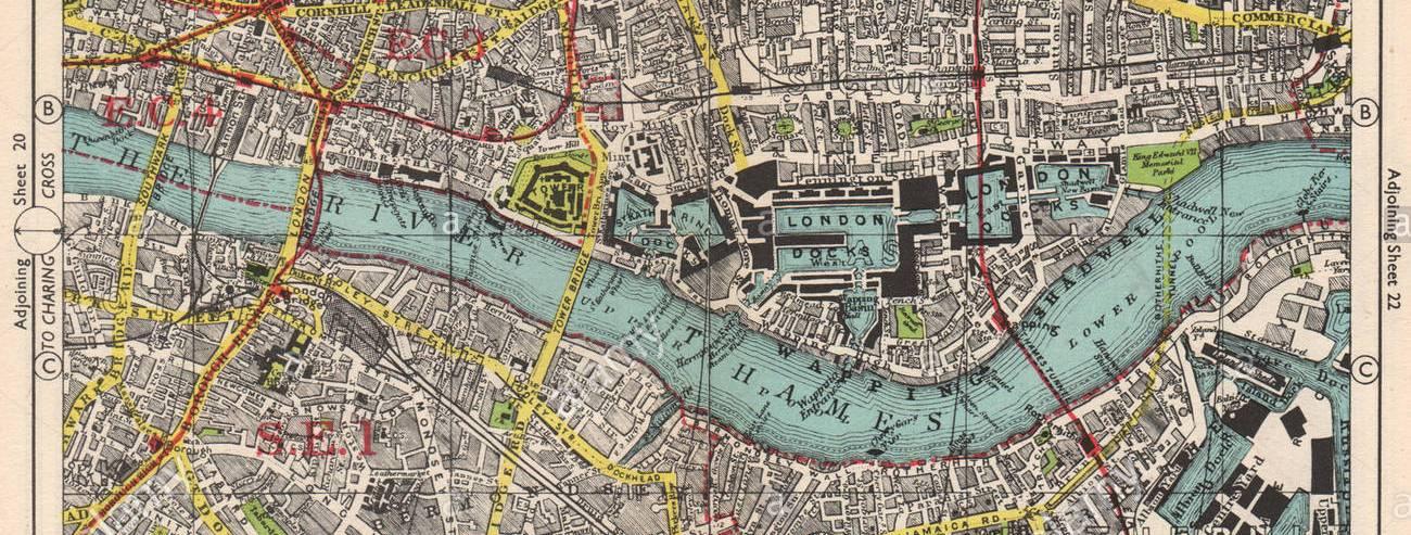 london-city-east-end-bermondsey-stepney-rotherhithe-whitechapelbacon-1948-map-T2J068